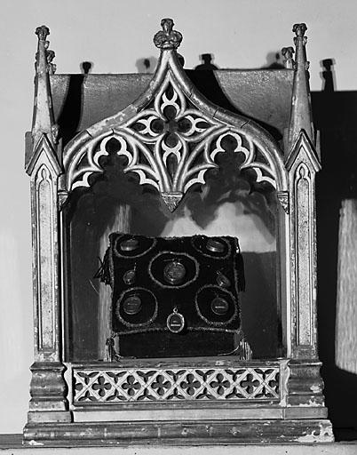 2 reliquaires (paire), style néo-gothique