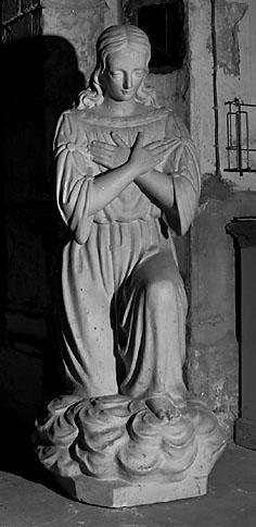 2 statues (paire) : anges adorateurs
