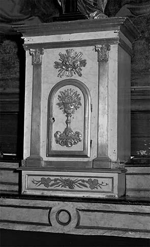 Autel, tabernacle (autel secondaire du Rosaire)