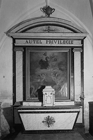 Autel, tabernacle, retable de la chapelle Nord