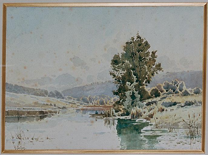 Dessin : bord de rivière