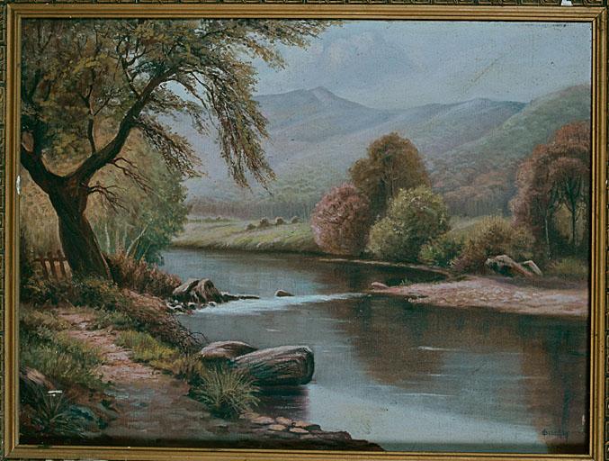 tableau : Paysage de rivière