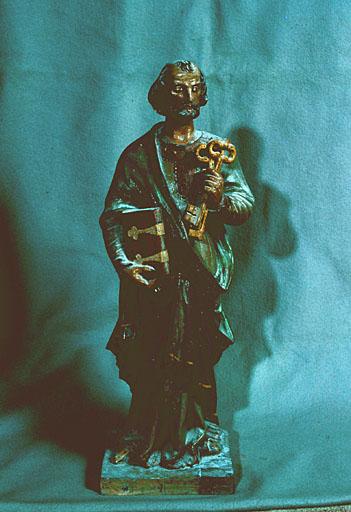 2 statues (paire, statuette) : saint Jean, saint Pierre