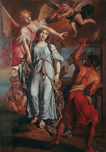 Tableau : Martyre de sainte Catherine d'Alexandrie