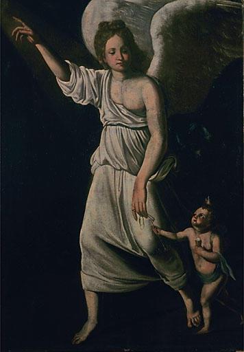 Tableau : archange Gabriel guidant Tobie