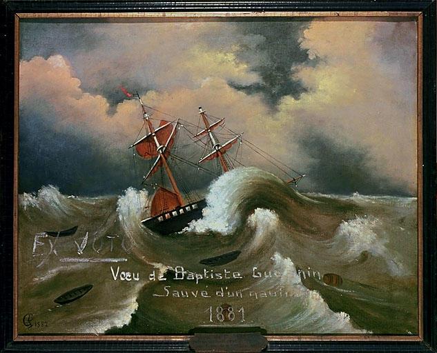 Ex-voto de Baptiste Guesnin, tableau