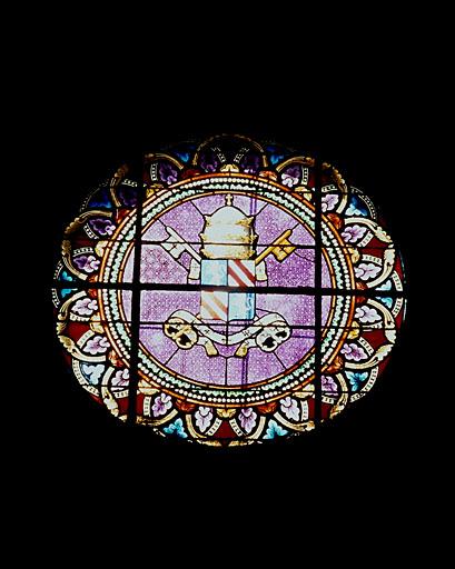 Verrière héraldique : armoiries du pape Pie IX