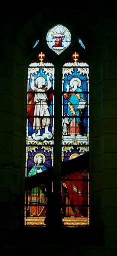 verrière : Les prophètes Elie, Daniel, David et Isaïe
