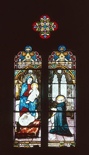 verrière n°2 : Donation du rosaire