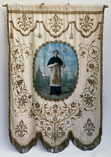 bannière de procession : saint Héray