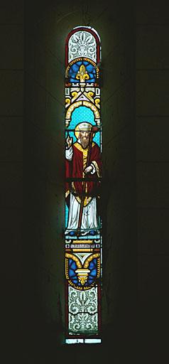Verrière à personnages : saint Joseph, saint Jean l'Evangéliste
