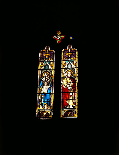 verrière : Vierge et saint Joseph
