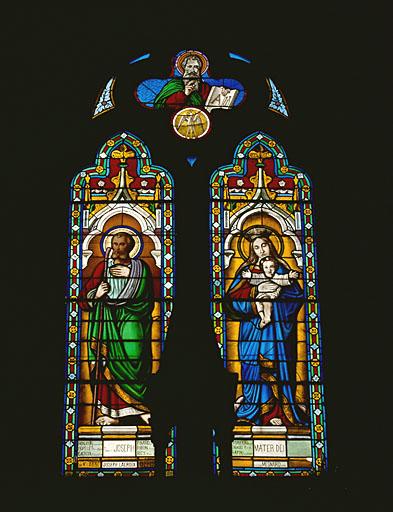 verrière : saint Joseph et Vierge à l'Enfant