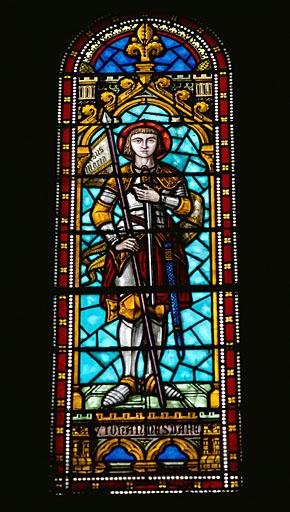 verrière : sainte Jeanne d'Arc