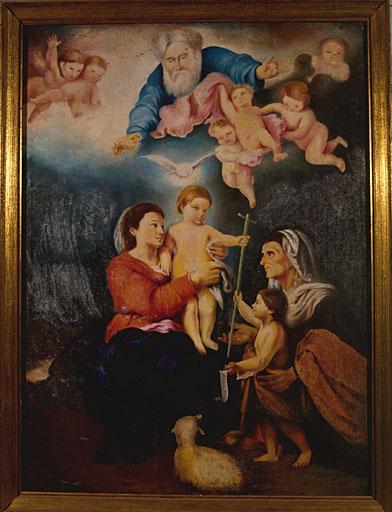 tableau : La Sainte Famille, d'après la Vierge de Séville de Murillo
