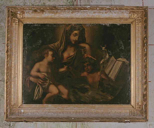 Tableau : Vierge avec Enfant Jésus et Jean-Baptiste
