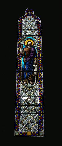 Verrière figurée : saint Jean-Baptiste