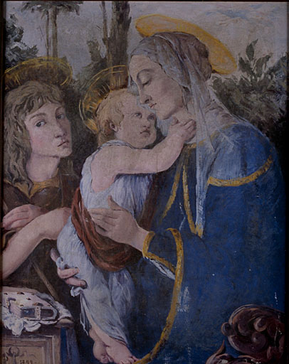 tableau : Vierge à l'Enfant, saint Jean