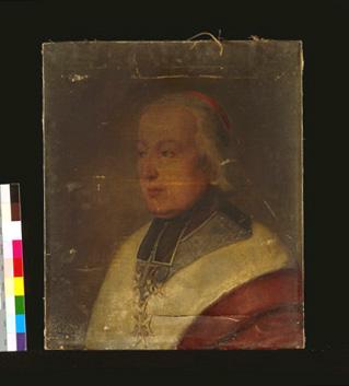 Tableau : portrait du cardinal prince de Croy.