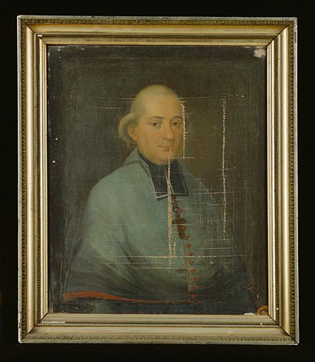 Tableau : portrait de Mgr de Coucy.