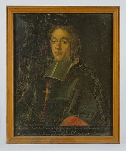 Tableau : portrait de Mgr Augustin-Roch de Menou de Charnisay