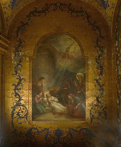Tableau : la Mort de sainte Eustelle