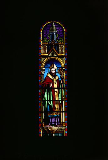 Verrière (verrière figurée) : saint Remi de Reims (?)