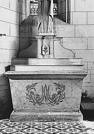 Autel, tabernacle (autel secondaire de la Vierge)