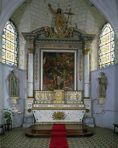 Ensemble du maître-autel (autel, retable, tabernacle)