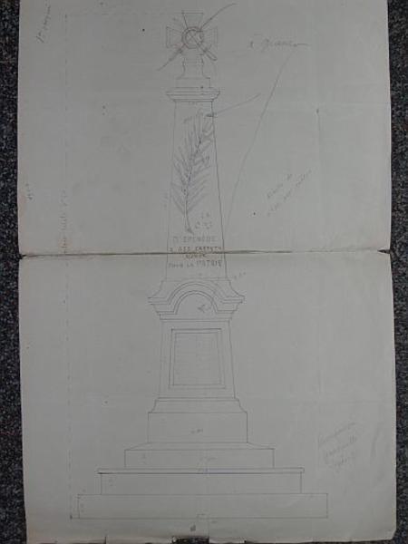 Monument aux morts, croix monumentale dite croix de mission