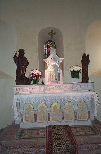 Autel; tabernacle 1 (maître-autel) ; Présentation des objets mobiliers du prieuré Saint-Sulpice