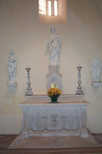 Autel; tabernacle 3 (autel secondaire) ; Présentation des objets mobiliers du prieuré Saint-Sulpice