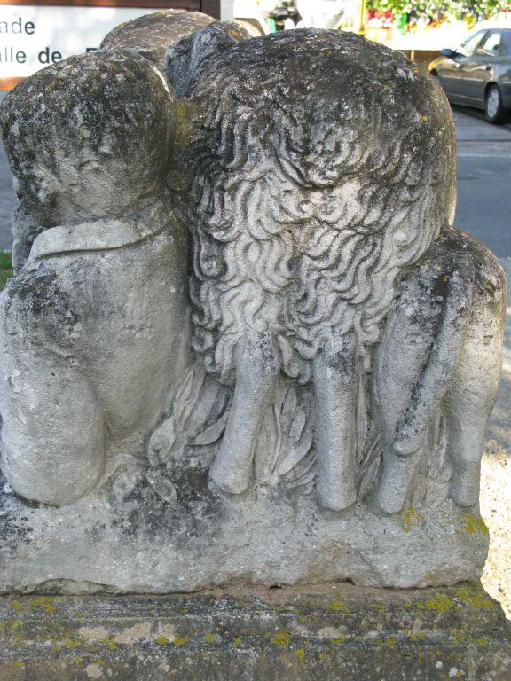 Groupe sculpté: Berger entouré de ses moutons (le)