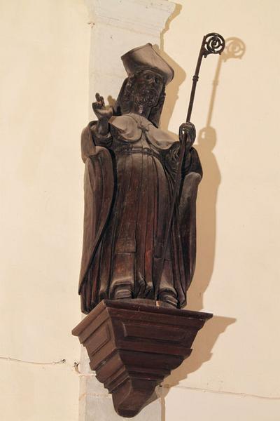 ensemble de 4 statues : Saint Martin, Vierge de l'Assomption, Saint Pierre, Saint Paul