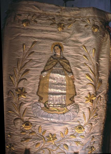 Bannière de procession de l'Immaculée Conception et de saint Martin