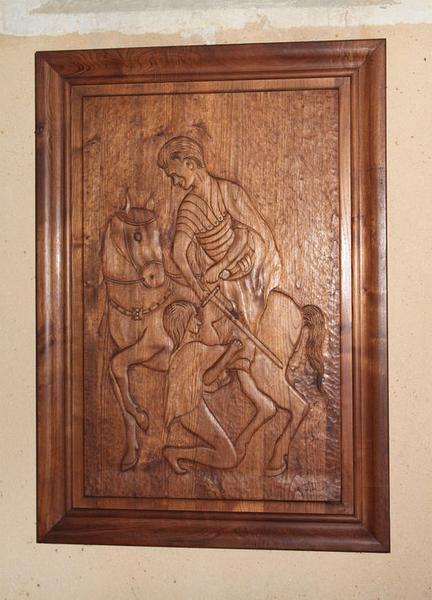 bas-relief : Charité de saint Martin