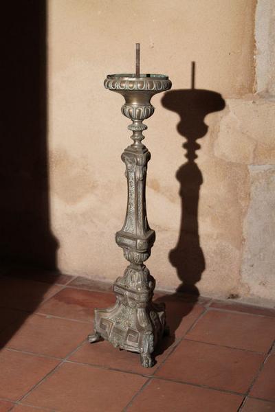 ensemble de 6 chandeliers d'autel