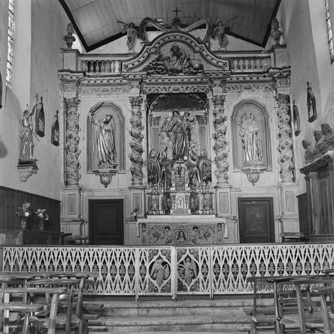 Retable, autel, tabernacle (retable architecturé à niche), style baroque