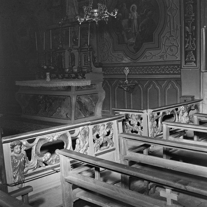 Clôture de chapelle (table de communion)