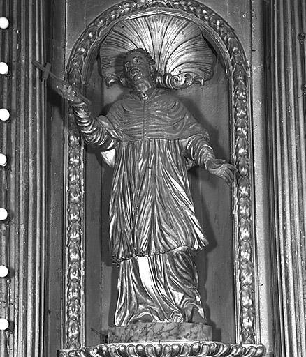 Statue (2) : saint Augustin, saint Charles Borromée
