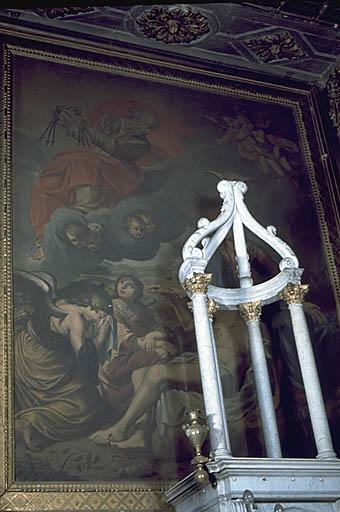 Tableau (tableau d'autel) : Vierge de Pitié avec Dieu le Père