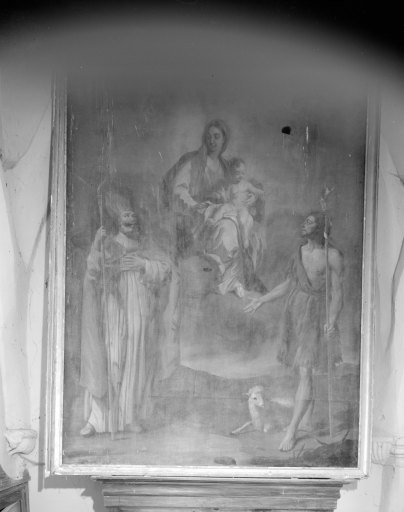 Tableau : Vierge à l'Enfant avec saint Jean-Baptiste et un saint évêque