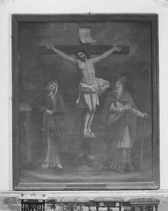 Tableau : Crucifixion en présence de saint Loup