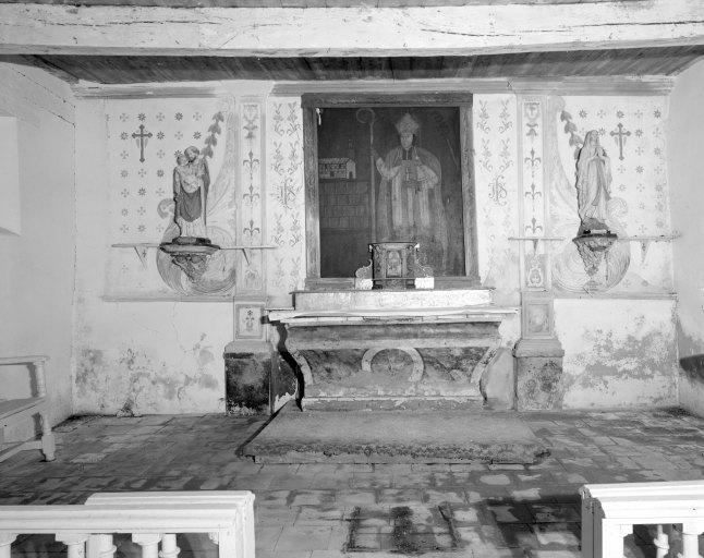 Autel, gradin d'autel, tabernacle (tabernacle à aile, maître-autel)