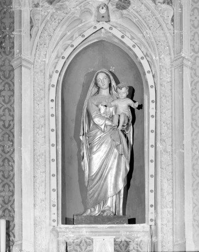 Statue (petite nature, encastré) : Vierge à l'Enfant