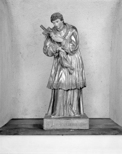 Statue (statuette) : saint Louis de Gonzague