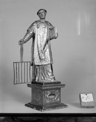 Statue-reliquaire (statuette) : Saint Laurent