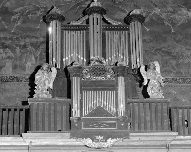 Ensemble de 2 statues (petite nature) : Anges adorateurs