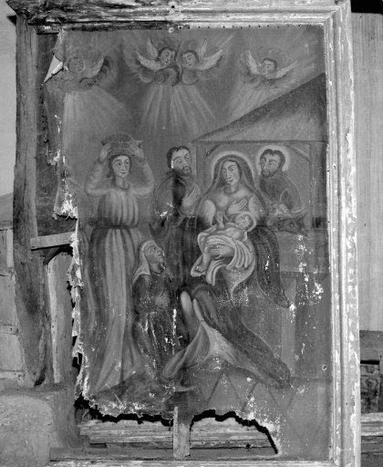 Tableau et son cadre : Adoration des Bergers