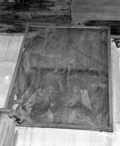 Tableau et son cadre : Le Pressoir mystique